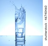 splash from an ice cube | Shutterstock . vector #46740460