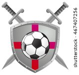 soccer football shield emblem | Shutterstock .eps vector #467407256