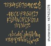 vector alphabet. letters drown... | Shutterstock .eps vector #467421278