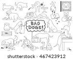 bad dogs set | Shutterstock .eps vector #467423912