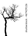 silhouette black tree isolated... | Shutterstock . vector #467429126