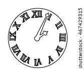 time clock roman numbers vector ... | Shutterstock .eps vector #467429315
