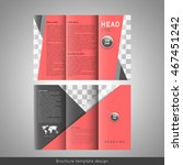 corporate tri fold brochure... | Shutterstock .eps vector #467451242