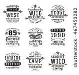 set of typographic ... | Shutterstock .eps vector #467453282