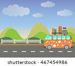 side view of vintage passenger...   Shutterstock .eps vector #467454986
