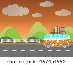 side view of vintage passenger...   Shutterstock .eps vector #467454992