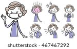 senior women  poor physical... | Shutterstock .eps vector #467467292