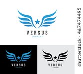 wings star logo template.   Shutterstock .eps vector #467474495
