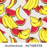 banana watermelon fruit... | Shutterstock .eps vector #467488358