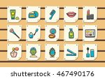 beauty and make up icons set... | Shutterstock .eps vector #467490176