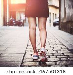 stylish female in dress and... | Shutterstock . vector #467501318