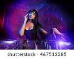 beautiful sexual dj girl... | Shutterstock . vector #467513285