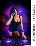 beautiful sexual dj girl... | Shutterstock . vector #467513372