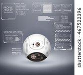 sci fi futuristic web cam with... | Shutterstock .eps vector #467522396