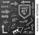 hand drawn arrow icons set on... | Shutterstock .eps vector #467526665