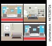 four interior one picture.... | Shutterstock .eps vector #467528726