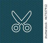 scissors line icon | Shutterstock .eps vector #467537912