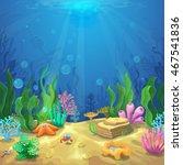underwater landscape. the ocean ...   Shutterstock .eps vector #467541836
