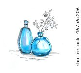 spring flowers in the glass... | Shutterstock . vector #467565206