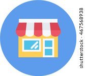shop flat circle icon | Shutterstock .eps vector #467568938