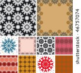 set of abstract floral seamless ... | Shutterstock .eps vector #46757074