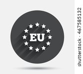 european union icon. eu stars... | Shutterstock .eps vector #467585132