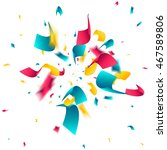 colorful confetti explosion on... | Shutterstock .eps vector #467589806