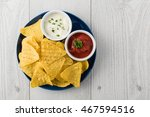 Nachos With Salsa And Sour...