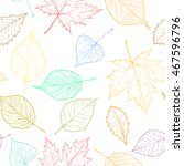 autumn transparent maple leaves ... | Shutterstock .eps vector #467596796