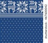 christmas fairisle sweater...   Shutterstock .eps vector #467600042