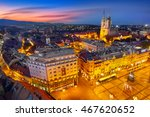 zagreb croatia at sunset.... | Shutterstock . vector #467620652