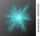 neon blue glitter particles...   Shutterstock .eps vector #467644142