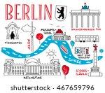 berlin   the town's landmark  ... | Shutterstock .eps vector #467659796