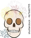 skull  flowers  vector... | Shutterstock .eps vector #467660795