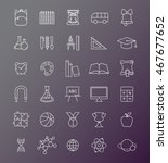 outline icon collection  ... | Shutterstock .eps vector #467677652