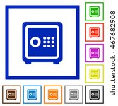 set of color square framed... | Shutterstock .eps vector #467682908