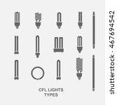 Cfl Light Bulb Base Type Icon...