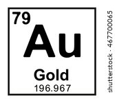 periodic table element gold | Shutterstock .eps vector #467700065