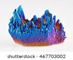 quartz rainbow titanium aura... | Shutterstock . vector #467703002