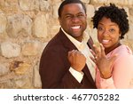 african american engaged couple | Shutterstock . vector #467705282