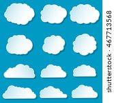cartoon clouds icons set....