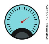 speedometer icon in flat style... | Shutterstock .eps vector #467713592