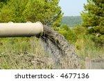 Industrial Waste Discharge - stock photo