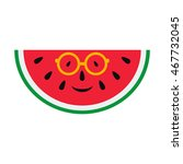 cheerful cartoon watermelon in... | Shutterstock . vector #467732045
