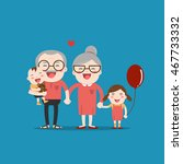 grandparents and grandchildren. ... | Shutterstock .eps vector #467733332