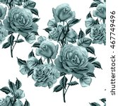 seamless pattern with roses.... | Shutterstock . vector #467749496