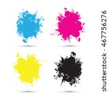 cmyk splash blobs | Shutterstock .eps vector #467756276
