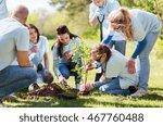 volunteering  charity  people...   Shutterstock . vector #467760488