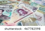 variety of middle east banknotes | Shutterstock . vector #467782598