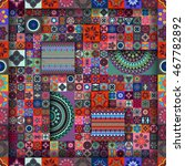 colorful vintage seamless...   Shutterstock .eps vector #467782892
